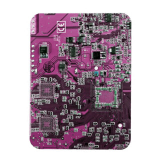 Placa de circuito del friki del ordenador - púrpur iman