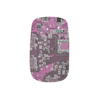 Placa de circuito del friki del ordenador - púrpur pegatinas para manicura
