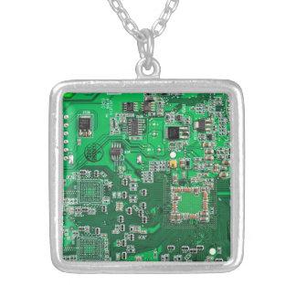 Placa de circuito del friki del ordenador - verde grimpolas