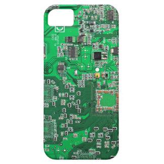 Placa de circuito del friki del ordenador - verde iPhone 5 fundas