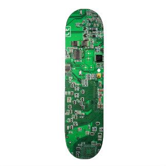 Placa de circuito del friki del ordenador - verde tablas de patinar