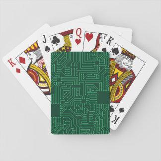 Placa de circuito del ordenador baraja de cartas