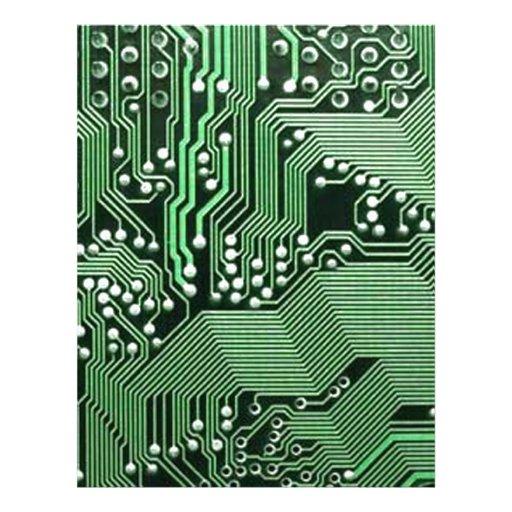 Placa de circuito del ordenador membrete a diseño