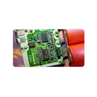 Placa de circuito del ordenador portátil etiquetas de dirección