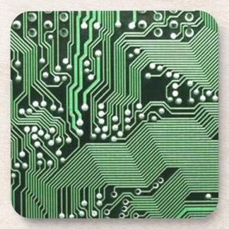 Placa de circuito del ordenador posavaso