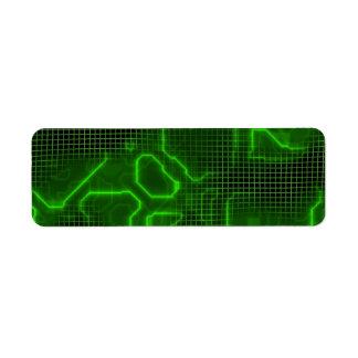 Placa de circuito del ordenador texturizada etiqueta de remite