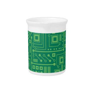 Placa de circuito del robot jarras de beber