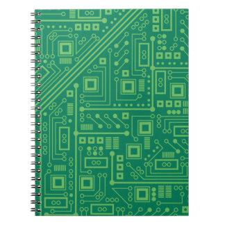 Placa de circuito del robot libro de apuntes