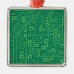 Placa de circuito del robot ornamento de navidad