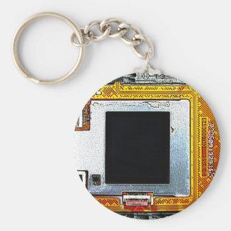 placa de circuito del teléfono celular llavero redondo tipo pin