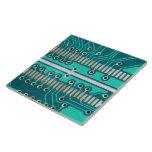 Placa de circuito del verde azul - fotografía de l azulejo cerámica