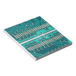 Placa de circuito del verde azul - fotografía de l bloc