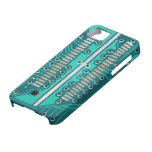Placa de circuito del verde azul - fotografía de l iPhone 5 protector