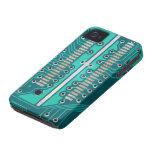 Placa de circuito del verde azul - fotografía de l iPhone 4 Case-Mate fundas