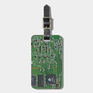 Placa de circuito divertida etiquetas maleta
