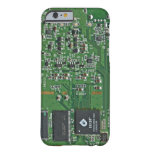 Placa de circuito divertida funda de iPhone 6 barely there