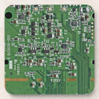 Placa de circuito divertida posavaso