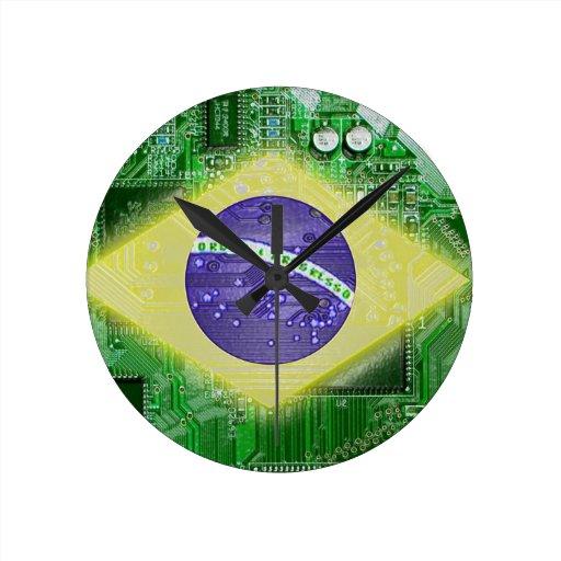 placa de circuito el Brasil Reloj