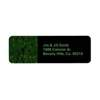 Placa de circuito electrónica impresa etiqueta de remitente
