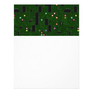 Placa de circuito electrónica impresa membrete