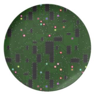 Placa de circuito electrónica impresa platos para fiestas