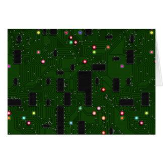 Placa de circuito electrónica impresa tarjeta de felicitación