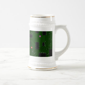Placa de circuito electrónica impresa taza de café