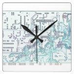 placa de circuito electrónica relojes