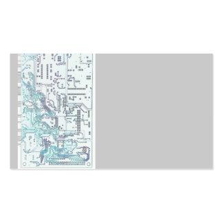 placa de circuito electrónica tarjetas de negocios