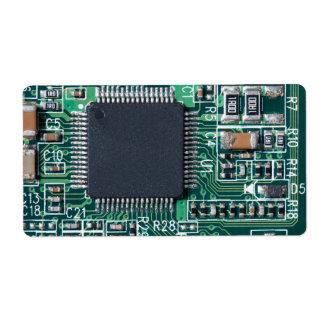 Placa de circuito etiquetas de envío