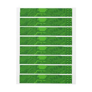Placa de circuito etiquetas postales
