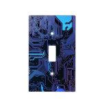 Placa de circuito fresca azul marino y púrpura del placas para interruptor