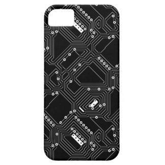 Placa de circuito fresca blanca negra retra del iPhone 5 funda