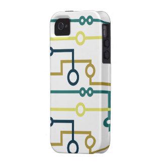 Placa de circuito vibe iPhone 4 funda