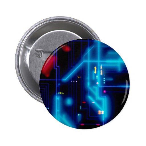 Placa de circuito gráfica que brilla intensamente pin redondo 5 cm