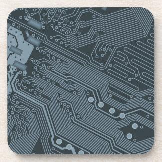 Placa de circuito gris posavaso
