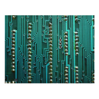 Placa de circuito ilustrativa postal