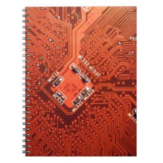 Placa de circuito impresionante libros de apuntes