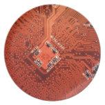 Placa de circuito impresionante plato para fiesta