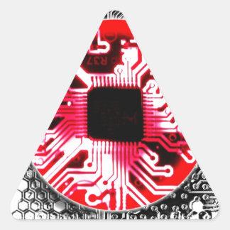 placa de circuito Japón (bandera) Pegatina Triangular