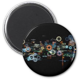Placa de circuito - negro imanes de nevera