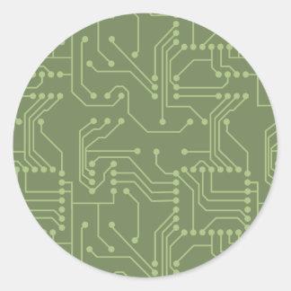 Placa de circuito pegatina