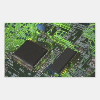 placa de circuito rectangular altavoces
