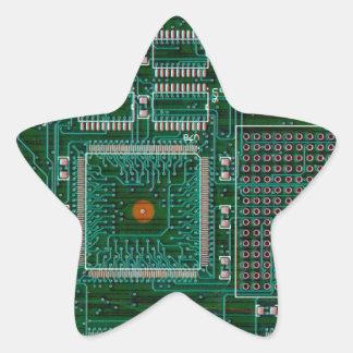Placa de circuito pegatina en forma de estrella