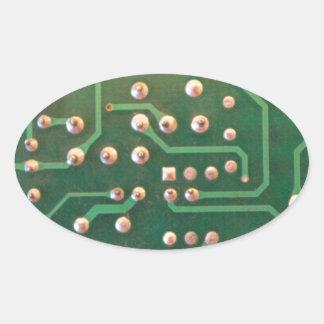Placa de circuito pegatina ovalada