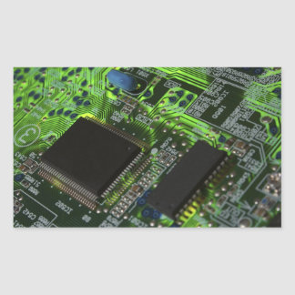 placa de circuito pegatina rectangular