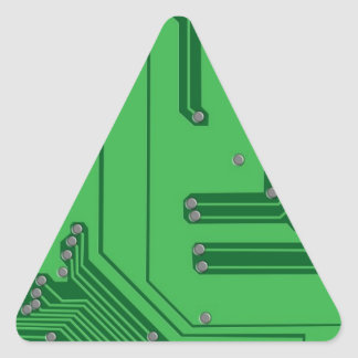 Placa de circuito pegatina triangular