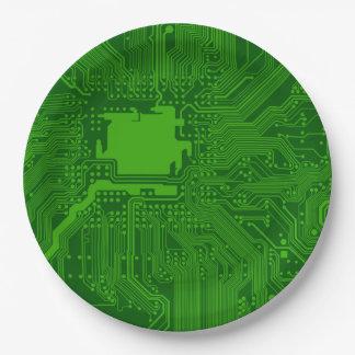 Placa de circuito platos de papel