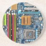 Placa de circuito posavasos diseño