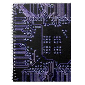 Placa de circuito púrpura libretas